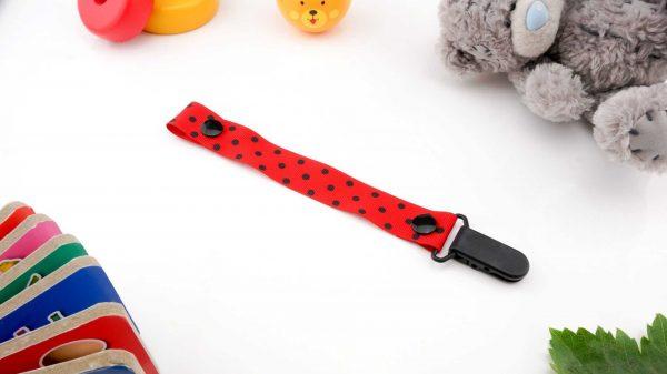 Spots Black on Red – Black Clip 1