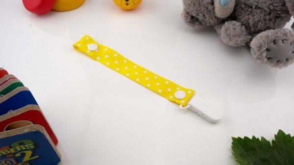 Spots White on Yellow – White Clip 1